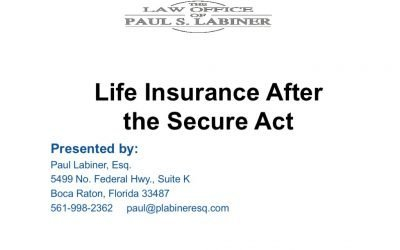 Life Insurance after the Secure Act